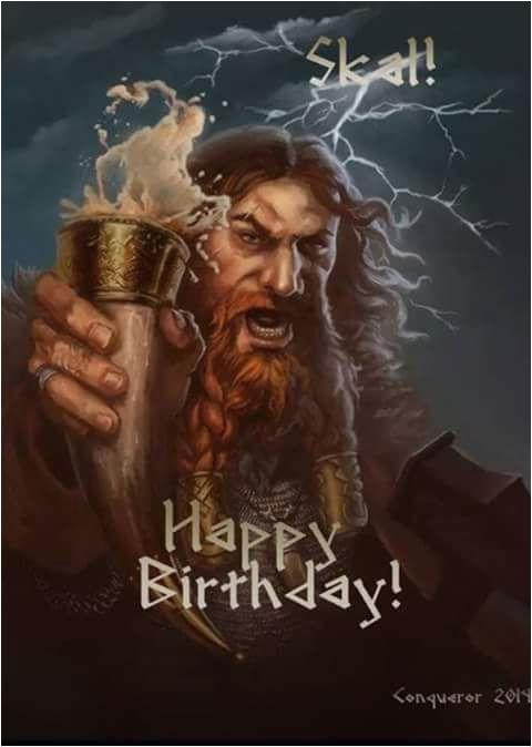 happy birthday card viking style spass 1 pinte