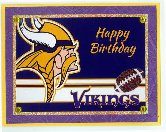 minnesota vikings birthday card etsy