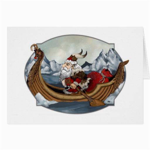 santa viking greeting card zazzle