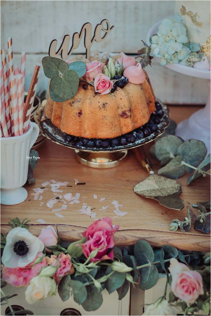 whimsical vintage 1st birthday party