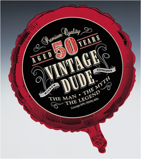 pd vintage dude 50th birthday party 18 foil balloon cfm