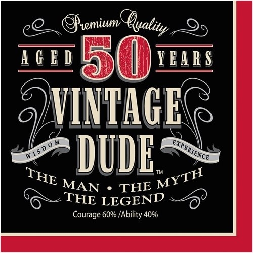 pd vintage dude 50th birthday party lunch napkins cfm