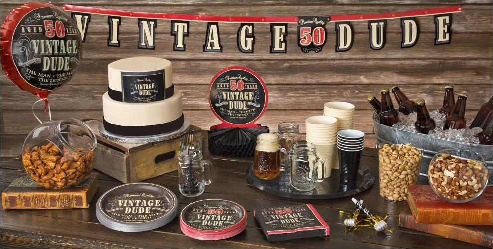 Vintage 50th Birthday Decorations Vintage Dude 50th Birthday Party Supplies 50th Birthday