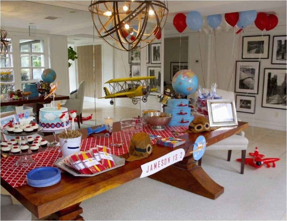 jamesons vintage airplane birthday party took flight