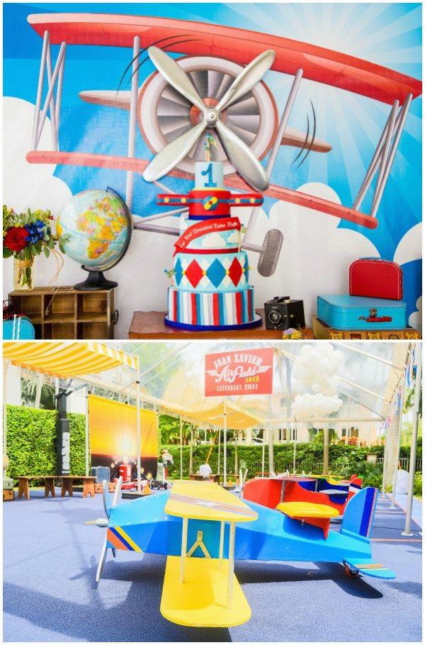 vintage airplane party ideas