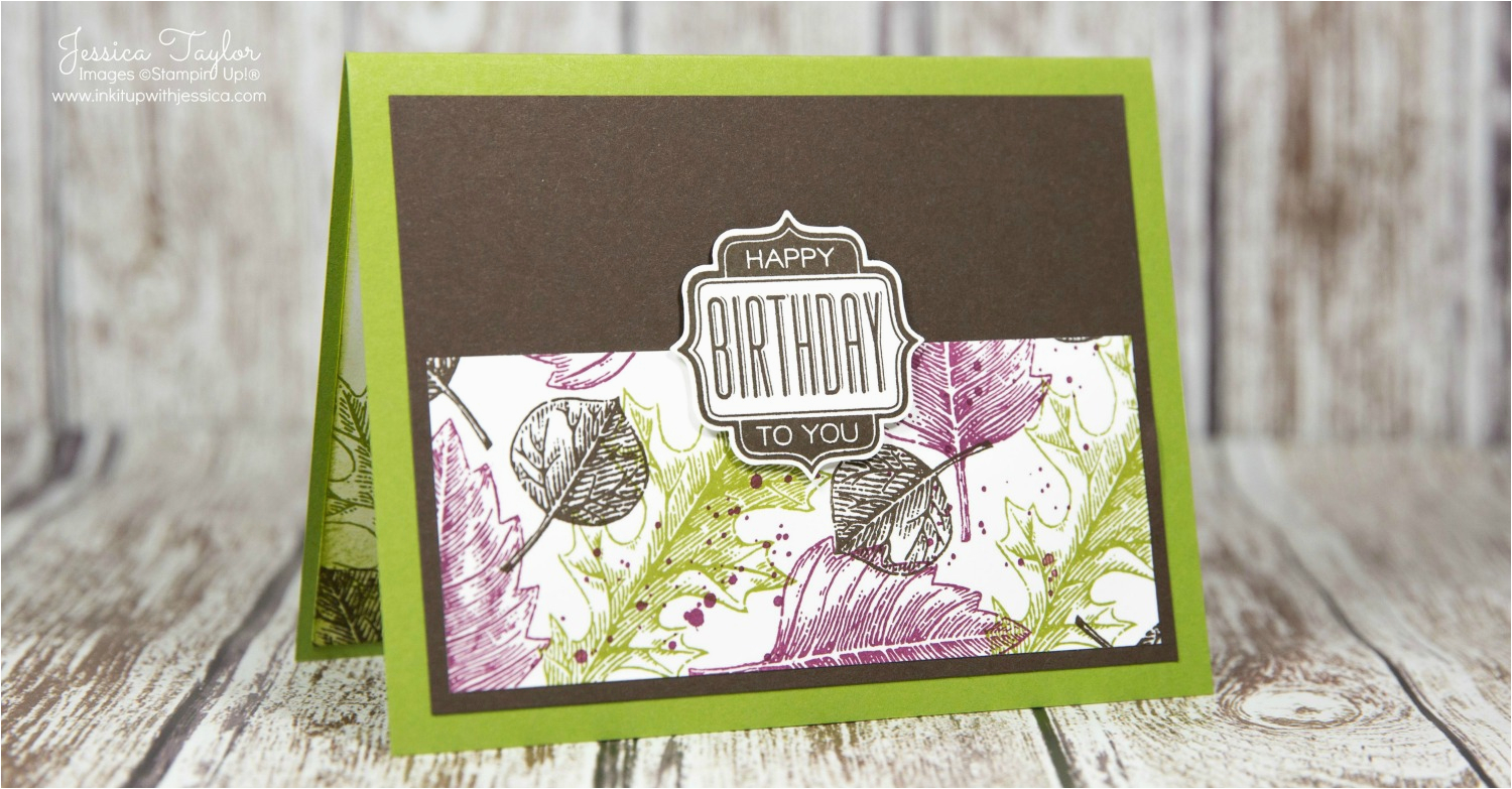 vintage leaves birthday card for men ink it up with