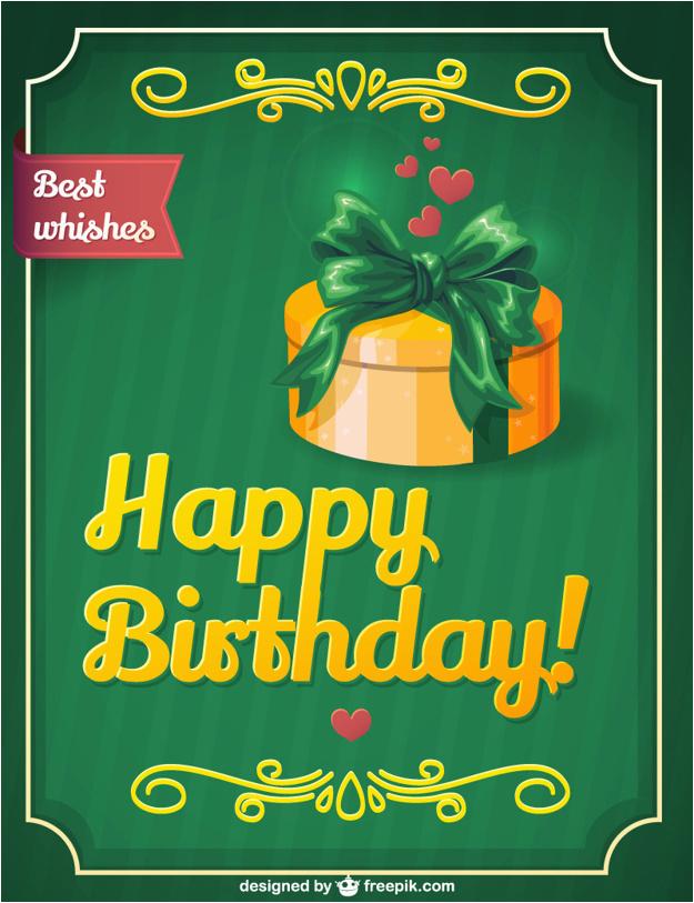 Retro Birthday Gift Card Design 710452
