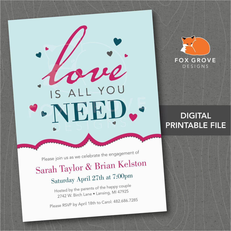 Engagement Party Invitations Vistaprint