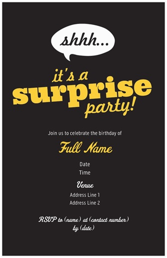 Birthday Invite Vistaprint3 Surprise Party Invites From Vistaprint