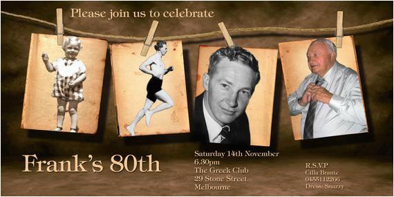Vistaprint 80th Birthday Invitations Invitation Vintage By Partyphotoinvites