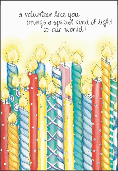 volunteer birthday cards b2146v