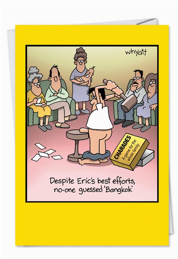 8300 Bangkok Funny Cartoons Happy Birthday Card
