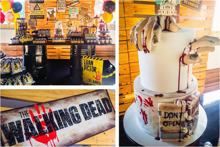 walking dead zombie themed birthday party