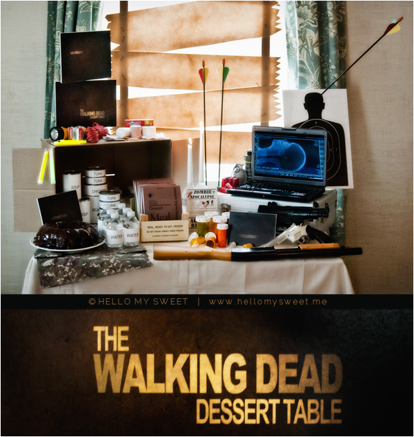 sweet parties the walking dead birthday dessert table