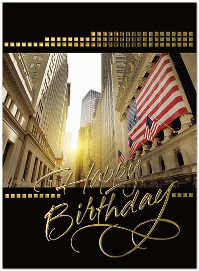 Wall Street Birthday Cards Wall Street Sunset Card Financial Birthday Cards Posty