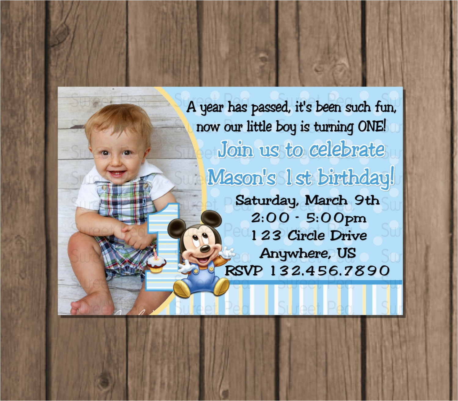 First Birthday Invitation Card Template My Best Templates