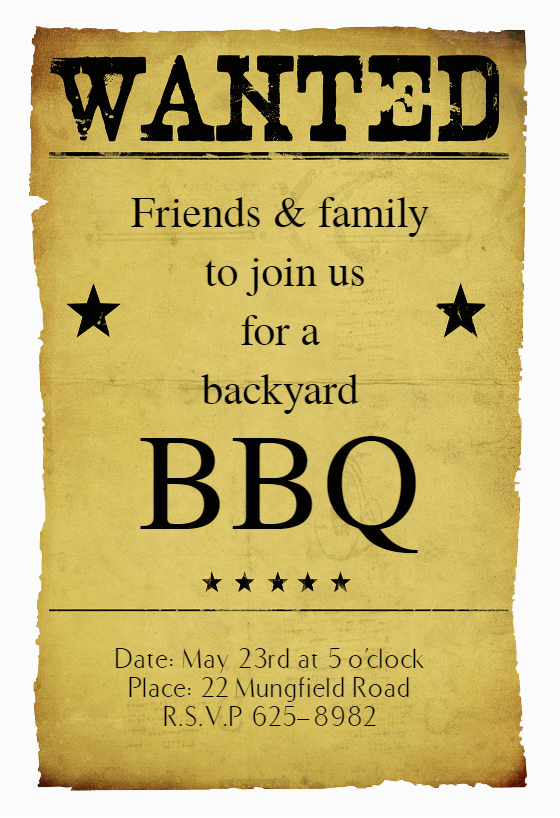 most wanted bbq free bbq party invitation template