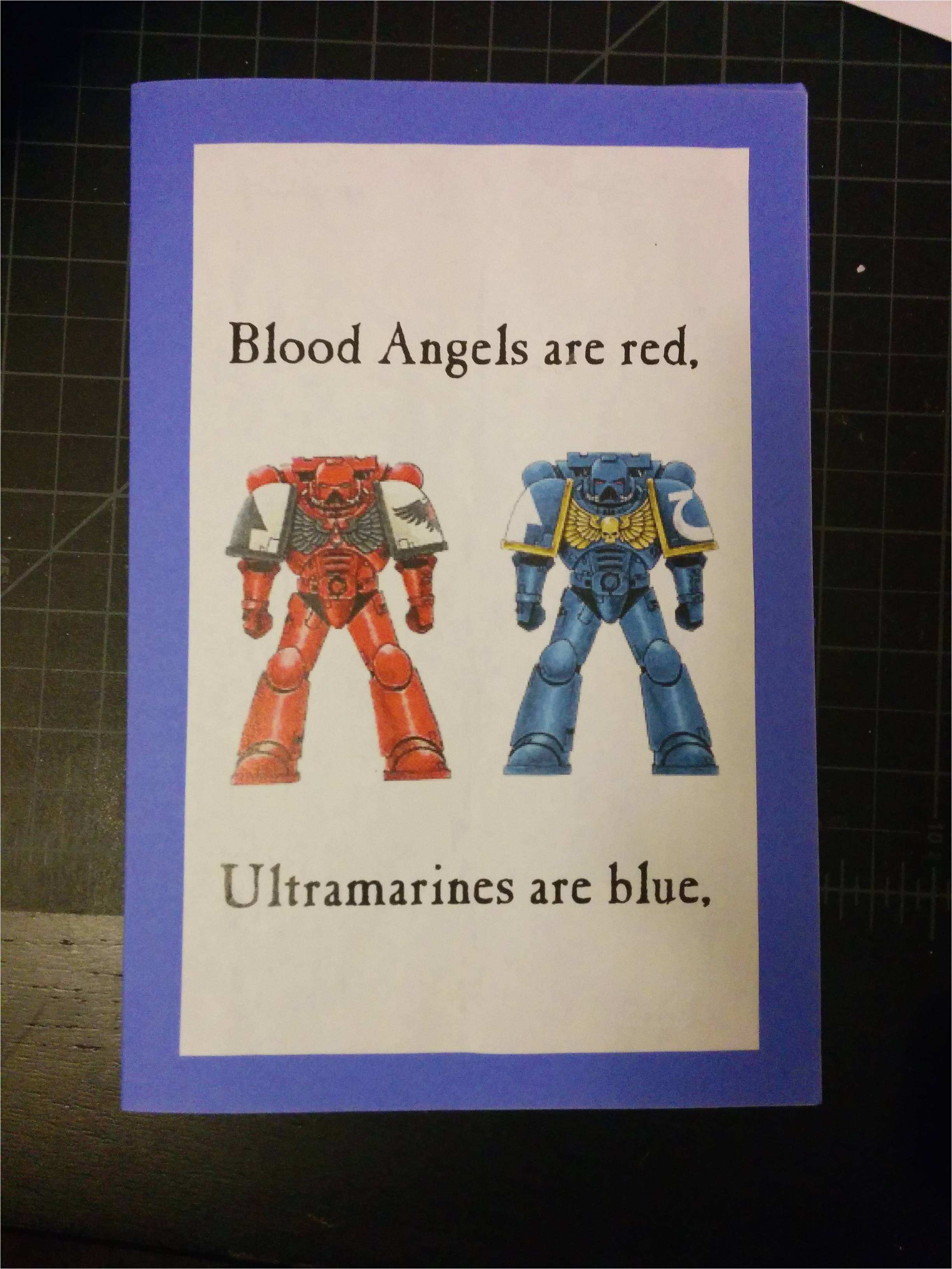 40k birthday card my friends gave me today