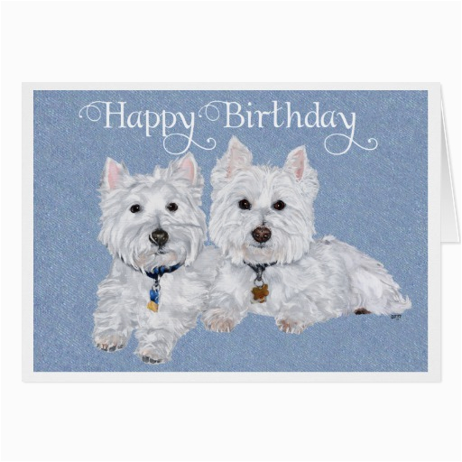 west highland terrier cards photo card templates