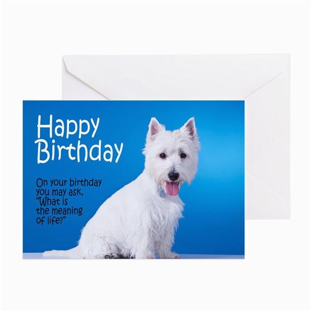 westie birthday card by shopdoggifts