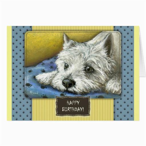 westie birthday card zazzle