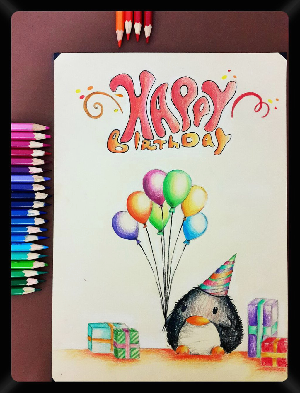 What to Draw On A Birthday Card Pencil Drawing 33 A Birthday Card to My Friends by