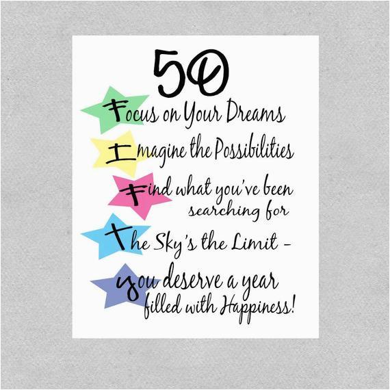 50th birthday card milestone birthday