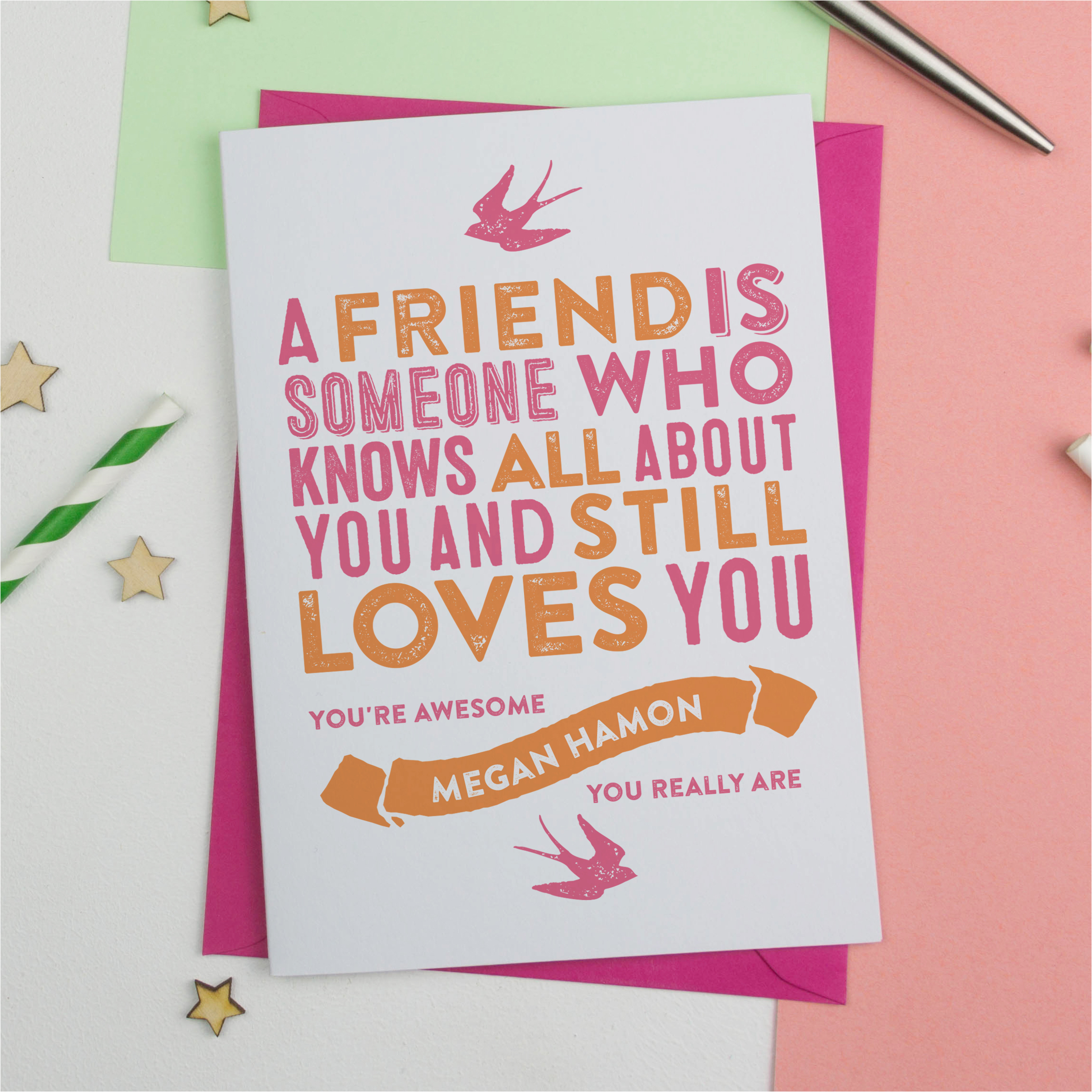 personalised card best friend