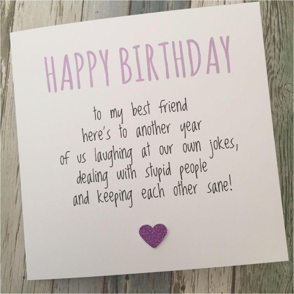 funny best friend birthday card bestie humour fun