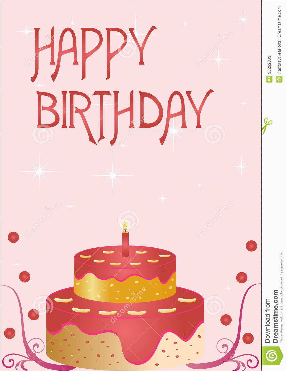 happy birthday card stock vector illustration of object