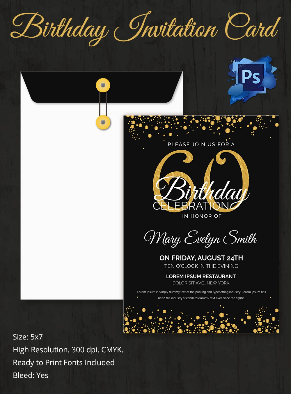 What To Write In A 60th Birthday Card Invitation Template 32 Free Word Pdf Psd