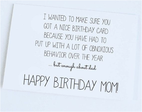 funny quotes to say to your mom on her birthday image