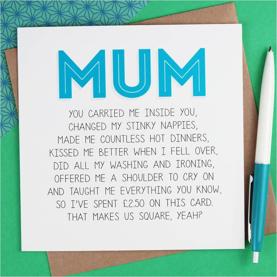 mum birthday card by paper plane notonthehighstreet com