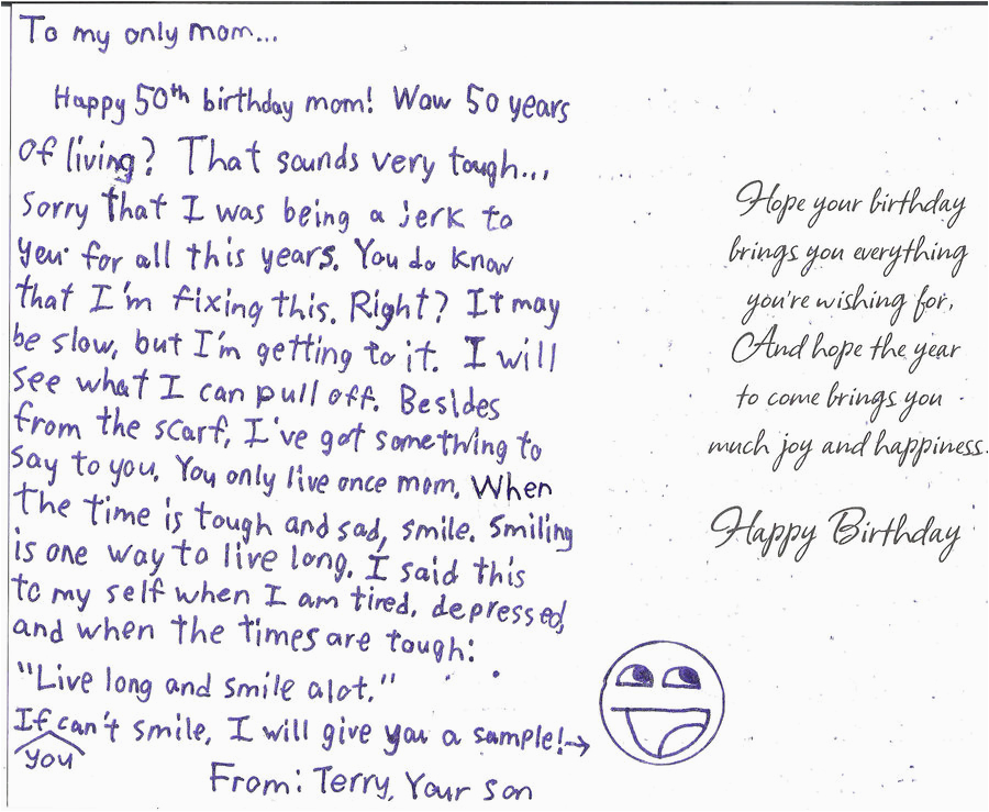 my mom 39 s 50th birthday card by masterluigi452 on deviantart
