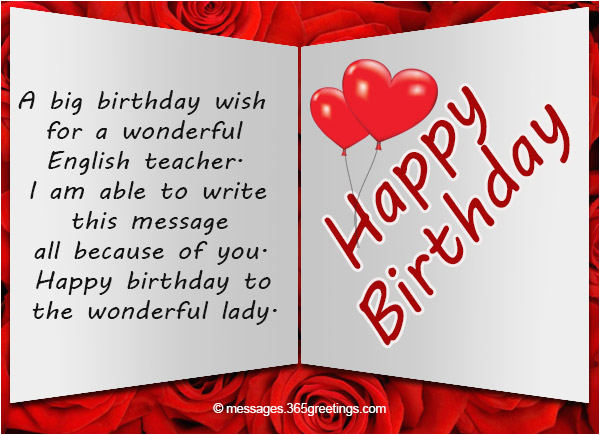 What to Write In A Birthday Card for Your Teacher Birthday Wishes for Teacher 365greetings Com