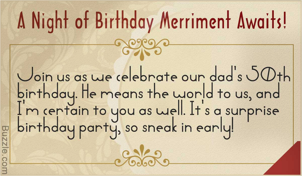 What To Write In A Surprise Birthday Invitation Inspiring 50th Party Wordings