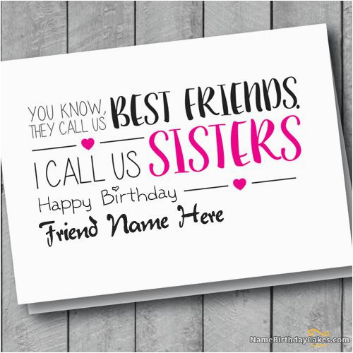 birthday card for friend sisters with name