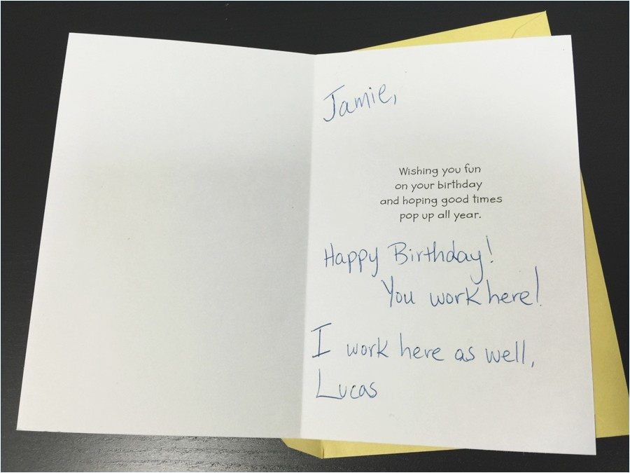 what to write in coworkers birthday card