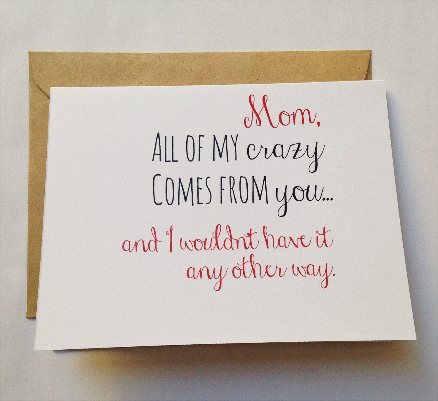 mom card mother 39 s day card mom birthday card funny