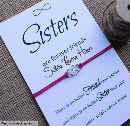 What To Write In Sister S Birthday Card Free Greetings Cards For With Name