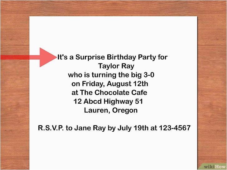 scrivere un invito di compleanno