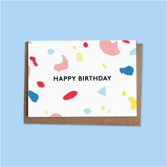 happy birthday greetings card recycled envelope