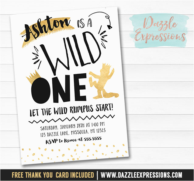 photograph relating to Let the Wild Rumpus Start Printable called Exactly where the Wild Variables are Birthday Card Printable Black and