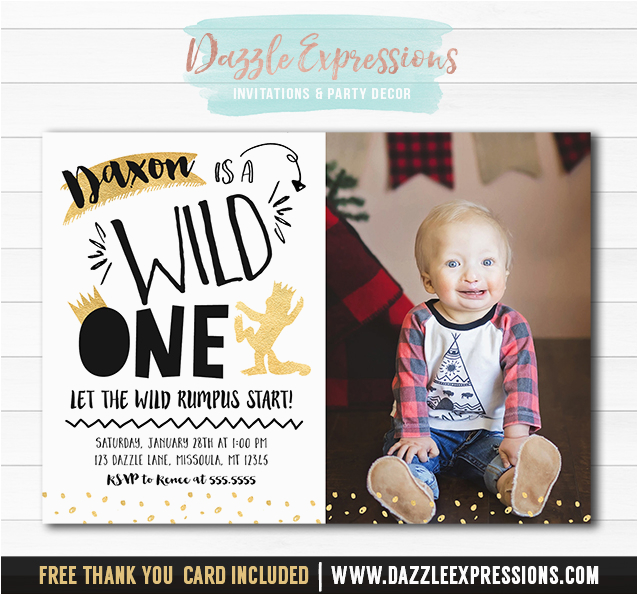 printable black and gold where the wild things are