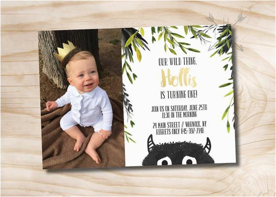 where the wild things are birthday invitation let the wild