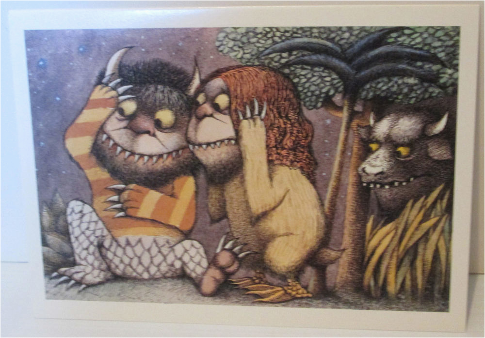 where the wild things are maurice sendak greeting card