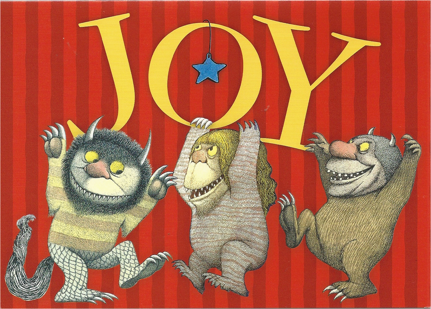 where the wild things are quot joy quot greeting card