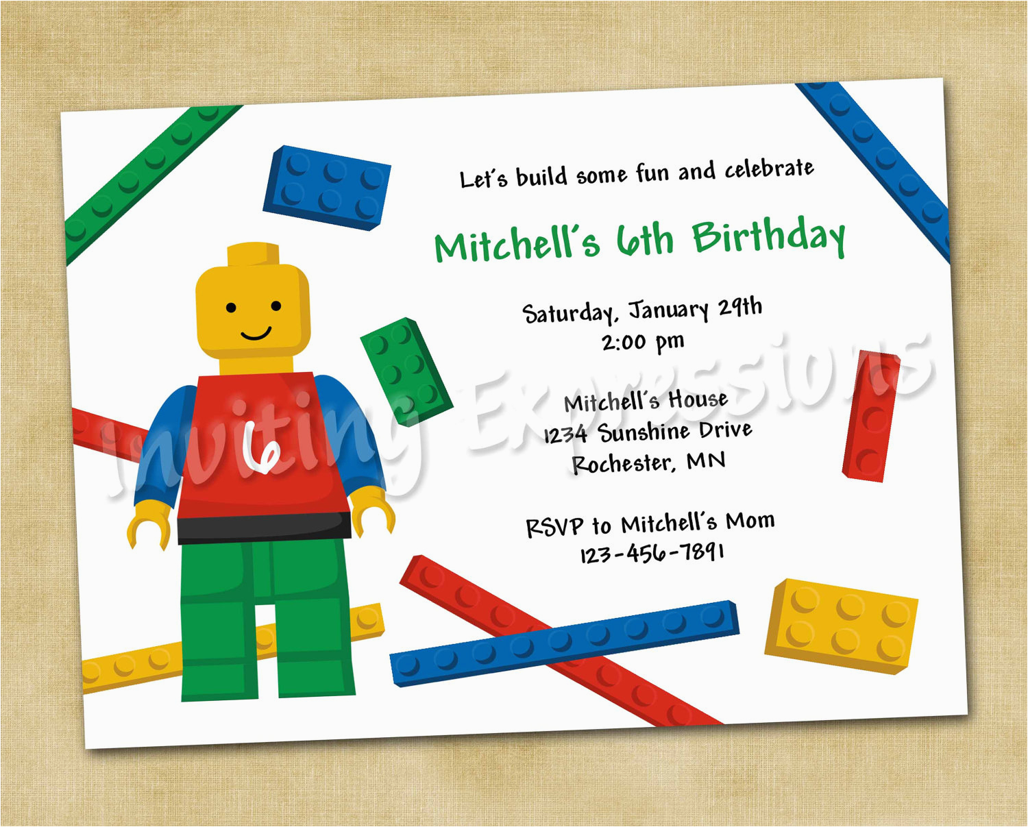 lego birthday invitations free ideas