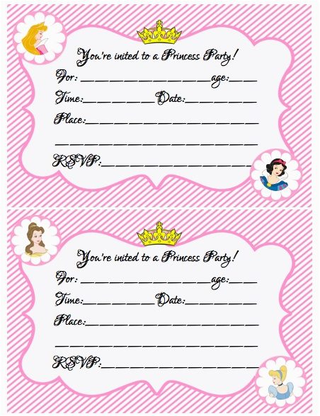 Where To Make Birthday Invitations Create Your Own Princess Party W Free Printables