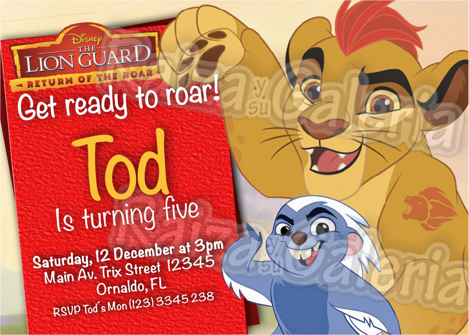 Where To Order Birthday Invitations The Lion Guard Invitation We Deliver Your In